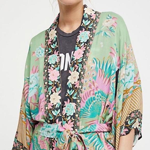 Other - Maxi KIMONO Cloud Dancer Floral COVERUP Wrap
